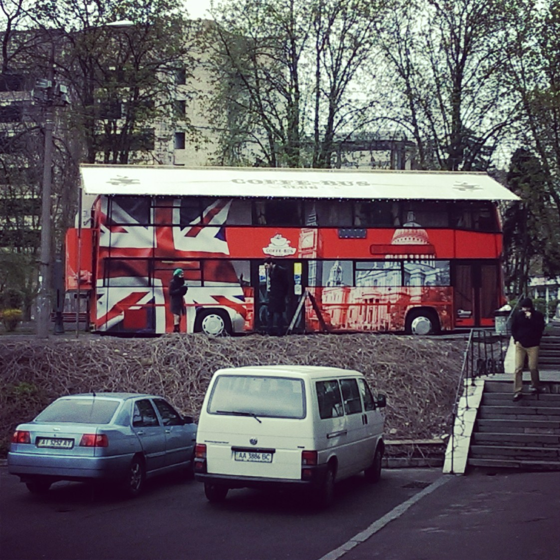 ...and now look!! (and I know we're famous for Red buses, but it should be a TEA bus). Where will is end??